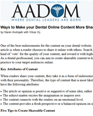 Ways to Make your Dental Online Content More Shareable