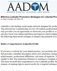 Effective LinkedIn Promotion Strategies for a Dental Professional