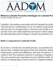 Effective LinkedIn Promotion Strategies for a Dental Professional