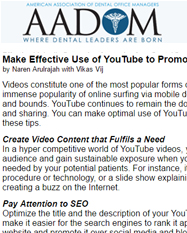 Make Effective Use of YouTube to Promote your Dental Practice