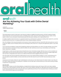 Are you achieving your Goals with Online Dental Marketing?