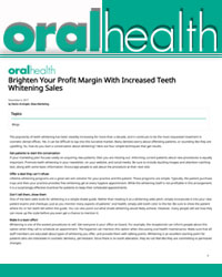 Brighten your profit margin with increased teeth whitening sales