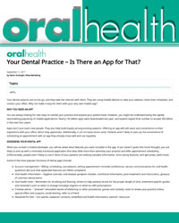 Your dental practice – is there an app for that?