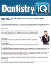 Key mistakes that may be affecting the search rankings of your dental website