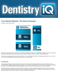 Your Dental Website: The Game Changer!