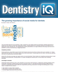 The growing importance of social media for dentists