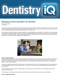 Managing online reputation for dentists