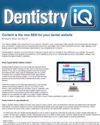 Content is the new SEO for your dental website