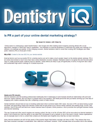 Is pr a part of your online dental marketing