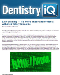 Link-building — it's more important for dental websites than you realize