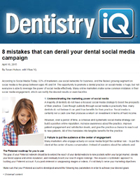 8 mistakes that can derail your dental social media campaign