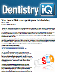 Vital dental SEO strategy: Organic link building