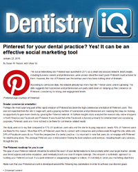 Pinterest for your dental practice? Yes! It can be an effective social marketing tool