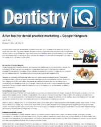 A fun tool for dental practice marketing – Google Hangouts