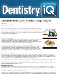 A fun tool for dental practice marketing – Google Hangouts