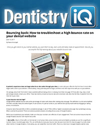 Bouncing back: How to troubleshoot a high bounce rate on your dental website