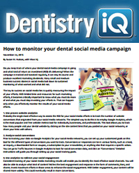 How to monitor your dental social media campaign