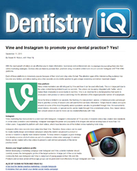 Vine and Instagram to promote your dental practice? Yes!