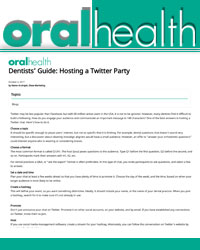 Dentists' Guide- Hosting a Twitter Party