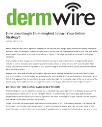 How does Google Hummingbird Impact Your Online Strategy?