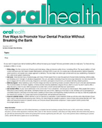 Five ways to promote your dental practice without breaking the bank