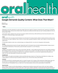Google demands quality content - what does that mean?
