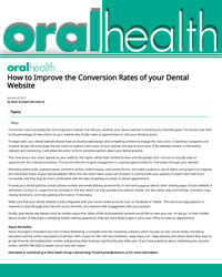 How to Improve the Conversion Rates of your Dental Website?
