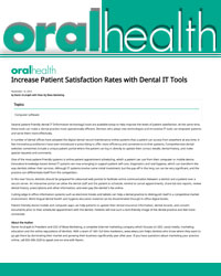 Increase Patient Satisfaction Rates with Dental IT Tools