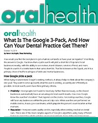 What is the Google 3-pack, and how can your dental practice get there?