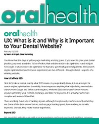 UX - what is it and why is it important to your dental website?