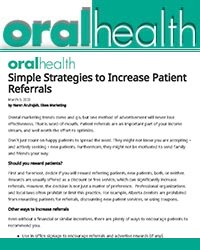 Simple strategies to increase patient referrals