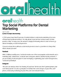 Top social platforms for dental marketing