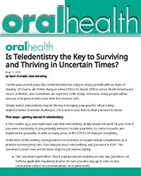 Is teledentistry the key to surviving and thriving in uncertain times?