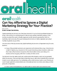 Can You Afford to Ignore a Digital Marketing Strategy for Your Dental Practice in Today's World?