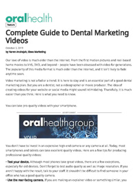 Complete guide to dental marketing videos