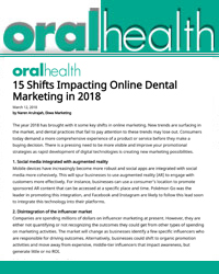 15 Shifts that will Impact Online Dental Marketing in 2018