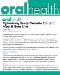 Optimizing Dental Website Content After It Goes Live