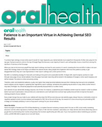 Patience is an Important Virtue in Achieving Dental SEO Results