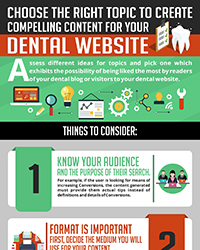 As seen in the April 2018 issue of Oral Health Blog - Choose the Right Topic to Create Compelling Content for your Dental Website
