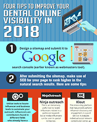 As seen in the July 2018 issue of Oral Health Blog - Four Tips to Improve Your Dental Online Visibility in 2018