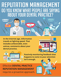 As seen in the August 2017 Issue of Oral Health Blog - Reputation management – do you know what people are saying about your dental practice?
