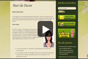 Client Testimonials - A video testimonial from Dr. Titania Tong, www.dr-tong.com