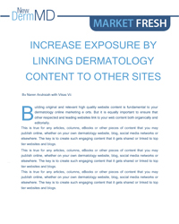 Increase Exposure by Linking Dermatology Content to Other Sites