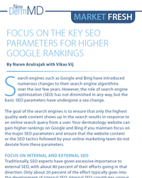 Focus on the Key SEO Parameters for Higher Google Rankings