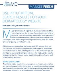 Use PR to Improve Search Results for your Dermatology Website