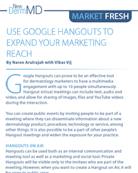 Use Google Hangouts to Expand your Marketing Reach