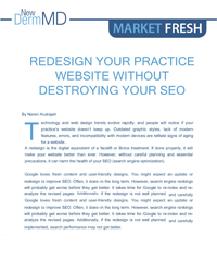 Redesign your practice website without destroying your SEO