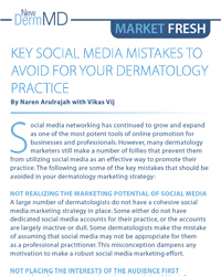 Key Social Media Mistakes to Avoid for your Dermatology Practice