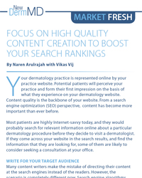 Focus on High Quality Content Creation to Boost your Search Rankings